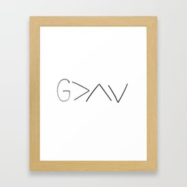God is greater v2 Framed Art Print