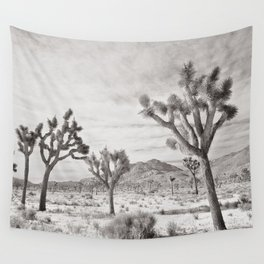 Joshua Tree Grey By CREYES Wall Tapestry