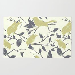 Birds and Branches Pattern Rug