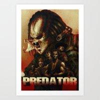 predator Art Prints featuring Predator by ChrisNygaard