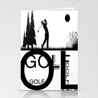 golf Stationery Cards featuring Golf, golf, golf! b&w by South43