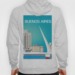 Buenos Aires, Argentina - Skyline Illustration by Loose Petals Hoody