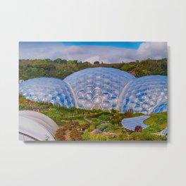 Eden Project Biomes Metal Print