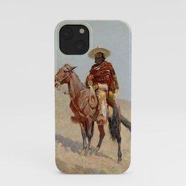 """""""Mexican Vaquero Horseman"""" by Frederick Remington iPhone Case"""