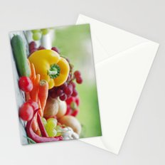 Fruits and Vegetables Variety in the kitchen Stationery Cards