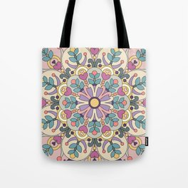 Happiness is Now Mandala Tote Bag