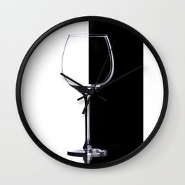 Black and White Glass Wall Clock