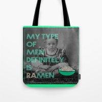 ramen Tote Bags featuring ramen lover by AmDuf