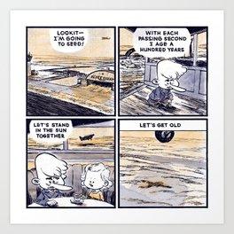 Laugh Menu 79 Art Print
