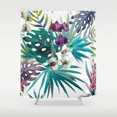 Tropical Floral Pattern 04 Shower Curtain