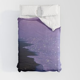 Purple magic Comforters