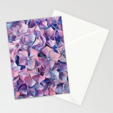 Violet hydrangea Stationery Cards
