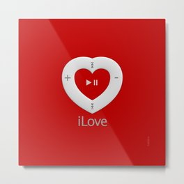 iLove red- By THE-LEMON-WATCH Metal Print