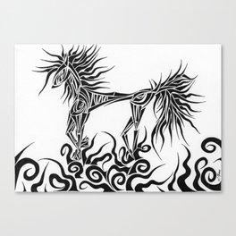Tribal Horse Canvas Print