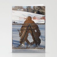 outdoor Stationery Cards featuring Outdoor hockey rink by RMK Creative