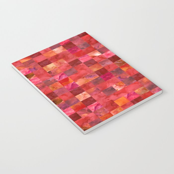 Red Geometric Pattern Notebook