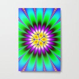 Fractal Flower Mandala Art Metal Print