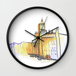 simple London on white background Wall Clock