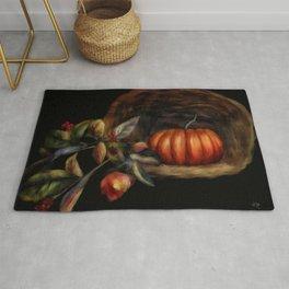 Pumpkin In A Basket Rug