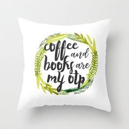 coffee & books! Throw Pillow