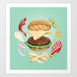 Burger Mandala Art Print