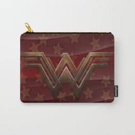Wavy Red Wonder Women Carry-All Pouch