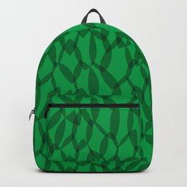 Overlapping Leaves - Dark Green Backpack