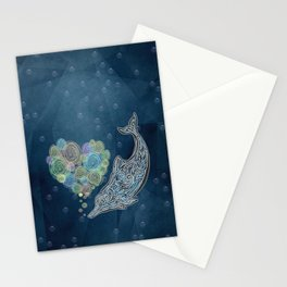 LOVE TAIWAN PINK DOLPHIN TATTOO Stationery Cards