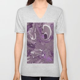 abstract paint gradient 0882 Unisex V-Neck