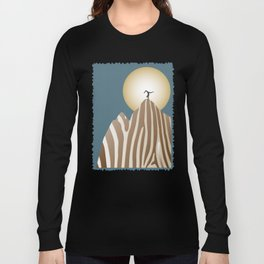 Moonlight Yoga over the Zebra Mountain Long Sleeve T-shirt