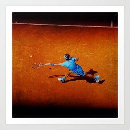 Rafael Nadal Tennis Forehand Return Art Print