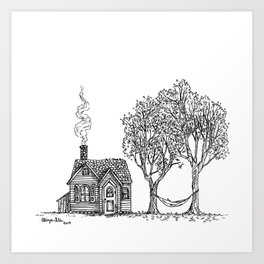 Vacation Cottage Art Print