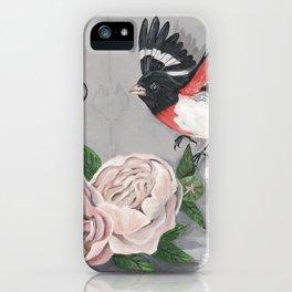 Rose-breasted Grosbeak Victorian iPhone Case