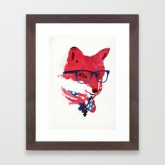 American Fox Framed Art Print