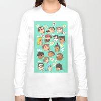 emoji Long Sleeve T-shirts featuring emoji talk by Hugo Lucas