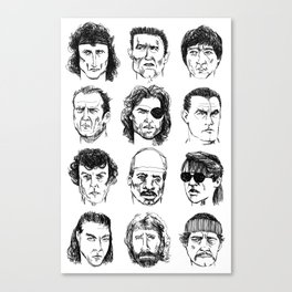 80s Action Stars Canvas Print