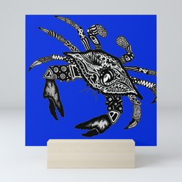 Maryland Blue Crab graffiti Mini Art Print