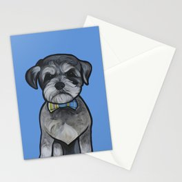 Gus the schnauzer mix Stationery Cards
