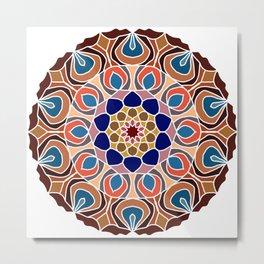 Multicolored abstract fractal mandala Metal Print
