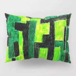 Three Green Puzzle Pillow Sham