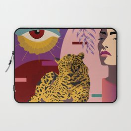 The Big Eye Leopard abstract Laptop Sleeve