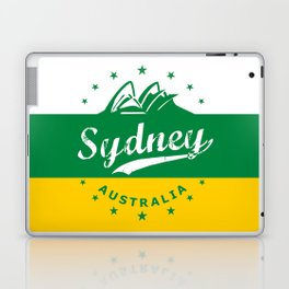 Sydney City, Australia, green yellow, poster Laptop & iPad Skin