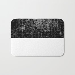 Tulsa map Oklahoma Bath Mat