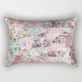 San Antonio map flowers Rectangular Pillow