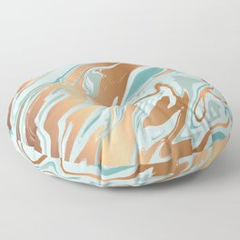 Liquid Green Marble and Gold 006 Floor Pillow