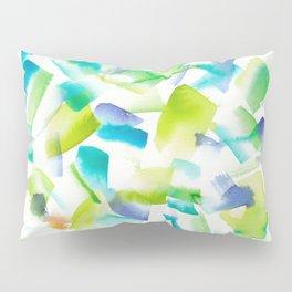 180719 Koh-I-Noor Watercolour Abstract 40  Watercolor Brush Strokes Pillow Sham
