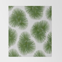 Fan Palm, Tropical Decor Throw Blanket