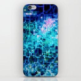 Play & Mute iPhone Skin