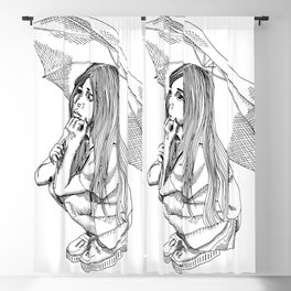 Little girl Blackout Curtain