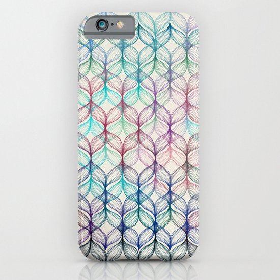 Mermaid's Braids - a colored pencil pattern iPhone & iPod Case